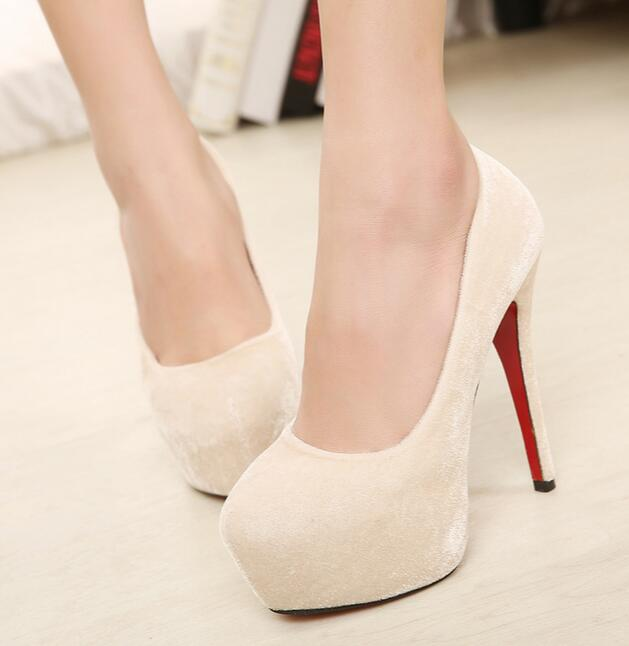 Round head thin with waterproof platform heels in 4 colors