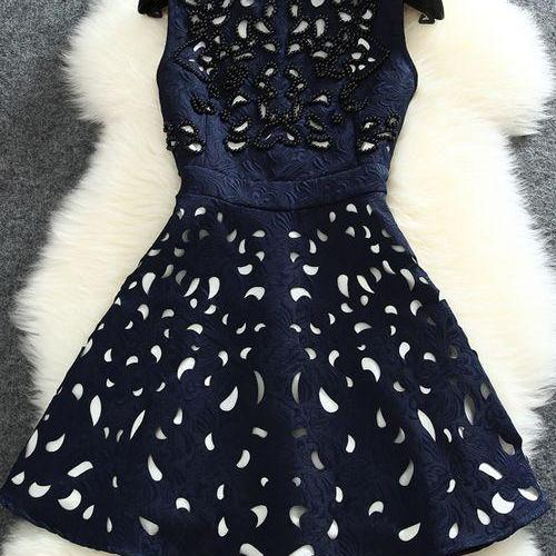 Gorgeous Beaded Sleeveless Party Dress