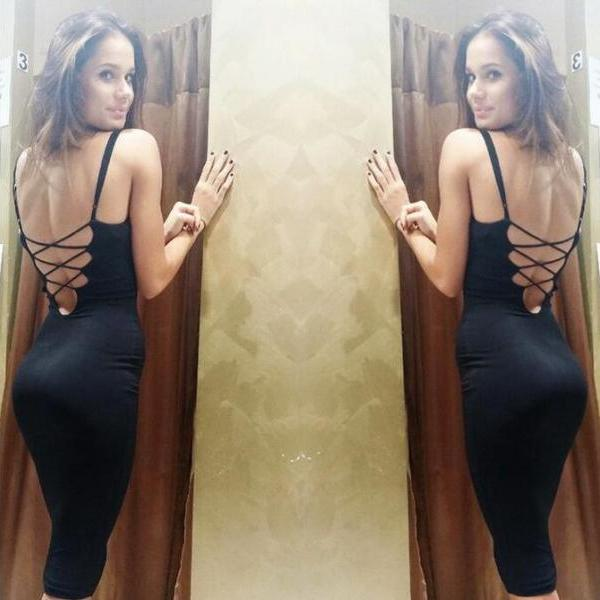 Black velvet straps tight package more hip skirt ladies' dresses